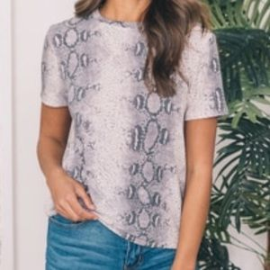Pink Lily Boutique - Snakeskin Print Blouse